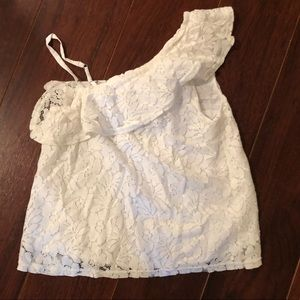Abercrombie girls lace shoulder top